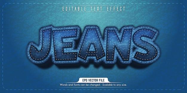 Testo di jeans, effetto di testo modificabile in stile jeans