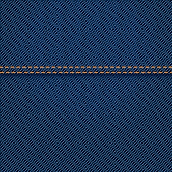 Trama di jeans con cucitura