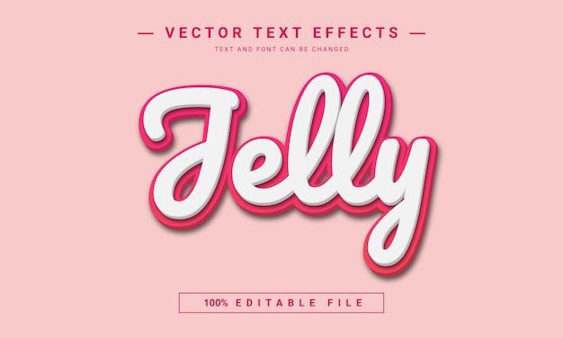 Effetto stile di testo modificabile jelly 3d