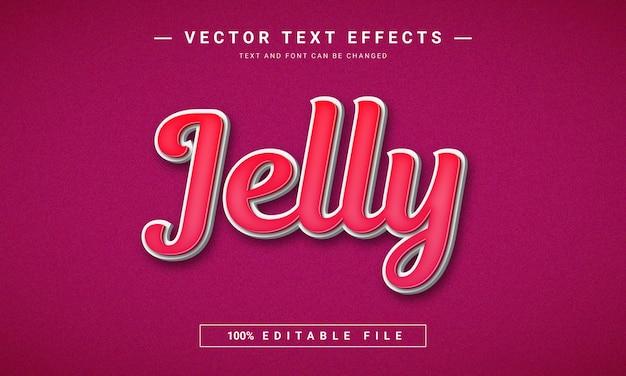 Effetto di testo jelly 3d