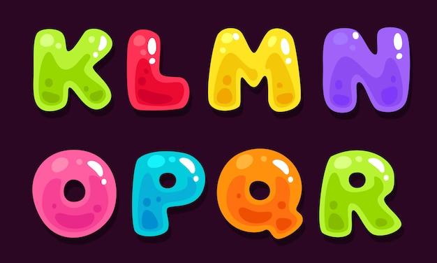 Alfabeti colorati gelatina parte 2