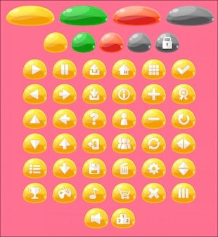 Jelly game button set