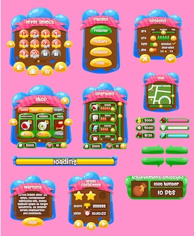 Jelly game user interface