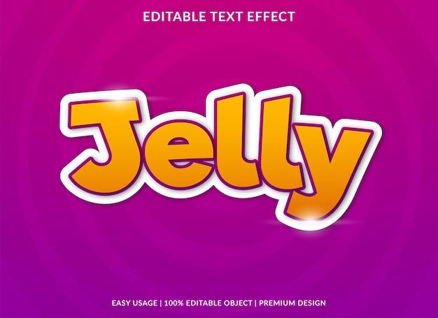 Effetto gelatina di testo con uno stile audace