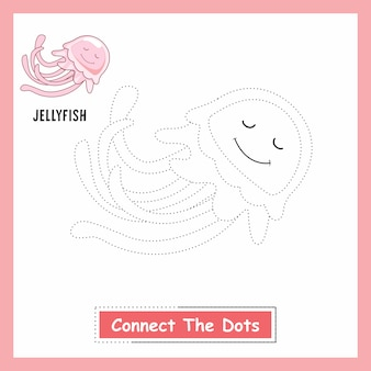 Medusa animali disegno collegano i punti