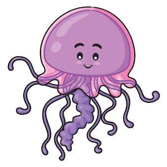 Cartone animato di meduse
