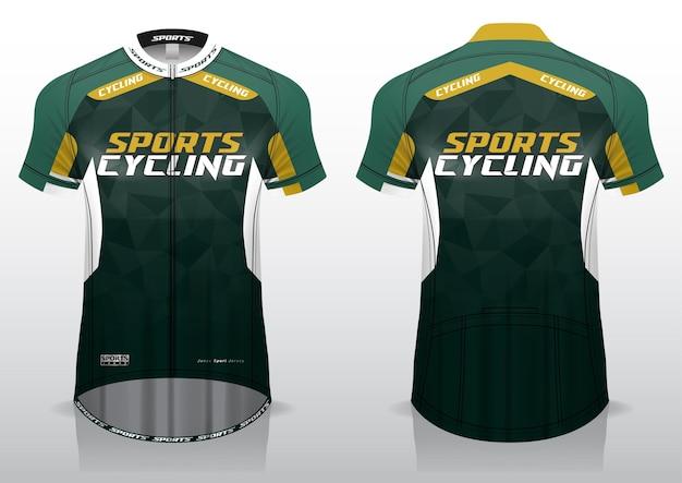Maglia per gli sport in bicicletta, il design uniforme delle viste anteriore e posteriore