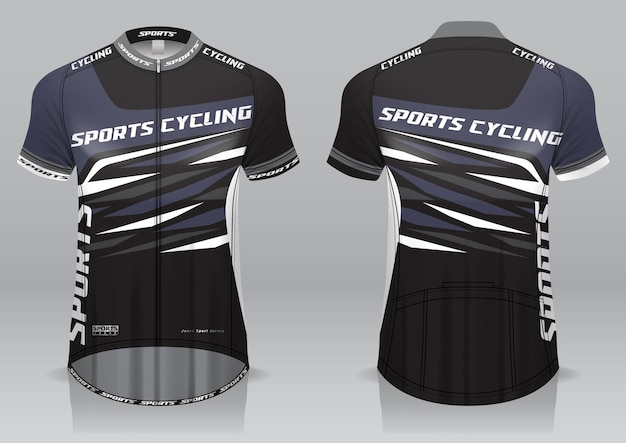 Maglia da ciclismo vista anteriore e posteriore dal design sportivo