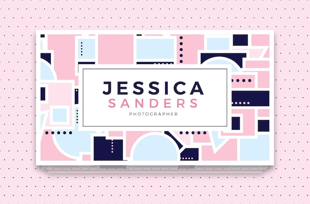 Jessica sanders bussiness card template