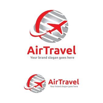 Jet aircraft con simbolo globe per agenzia di viaggi, compagnia tour, air ticket agency.