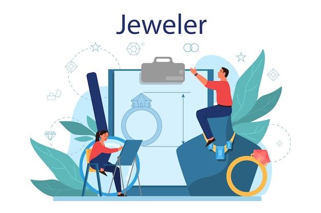 Illustrazione di concetto di gioielliere