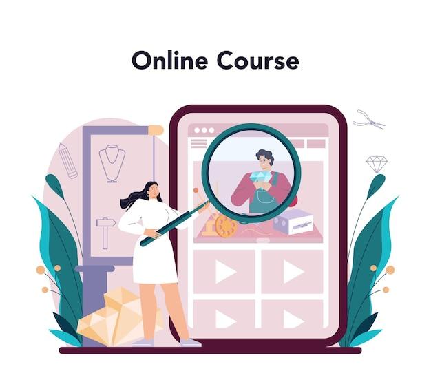 Servizio online gioielliere o piattaforma orafo esame