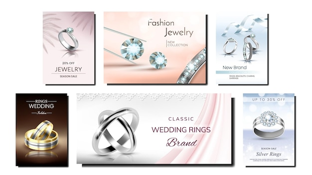 Poster promozionali creativi di gioielli