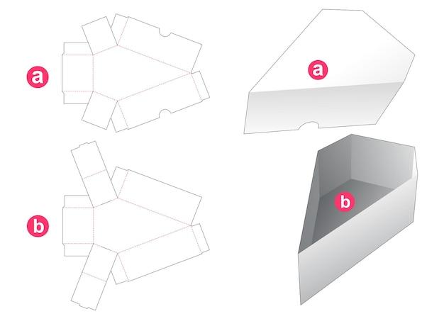 Scatola di gioielli a forma di con coperchio modello fustellato