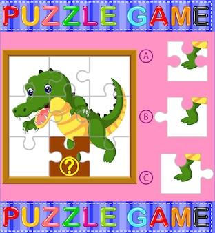 Gioco educativo di puzzle