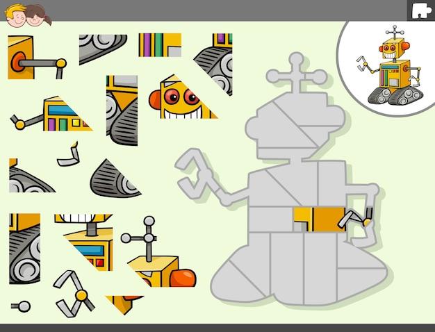 Gioco di puzzle con personaggio di fantasia robot