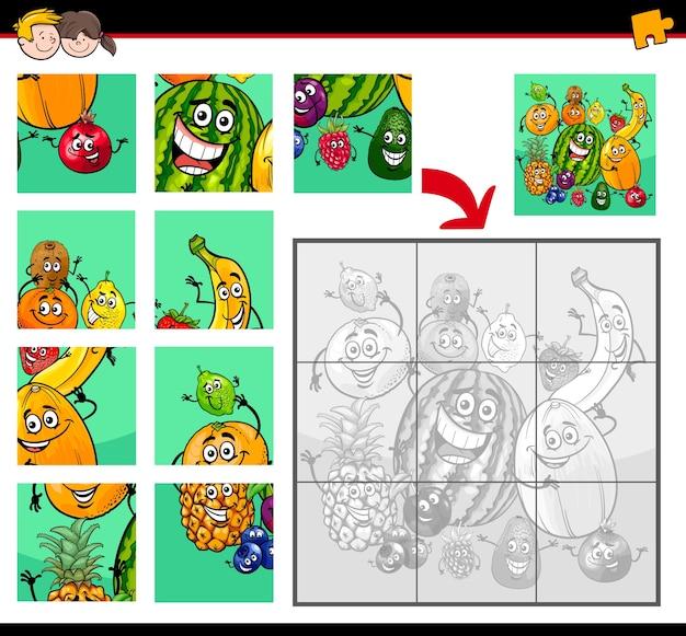 Puzzle con personaggi di frutta