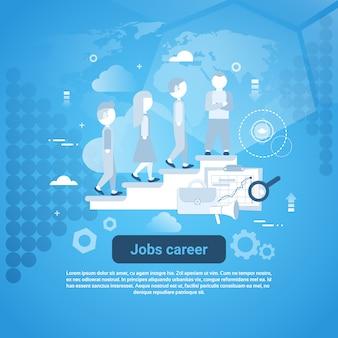 Job career template web banner con spazio di copia