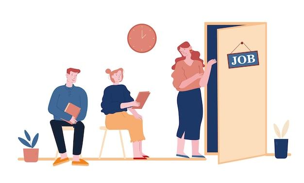 Concetto di colloquio di lavoro isolato su bianco