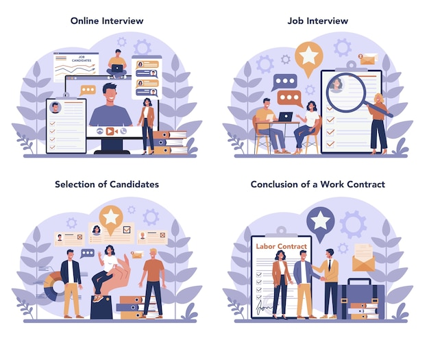 Insieme di concetto di colloquio di lavoro