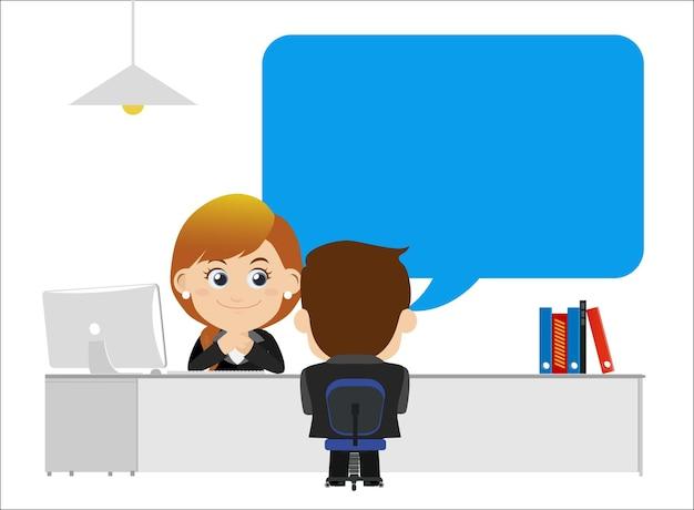 Concetto di colloquio di lavoro