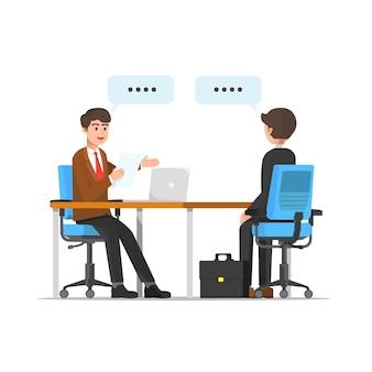 Illustrazione di colloquio di lavoro