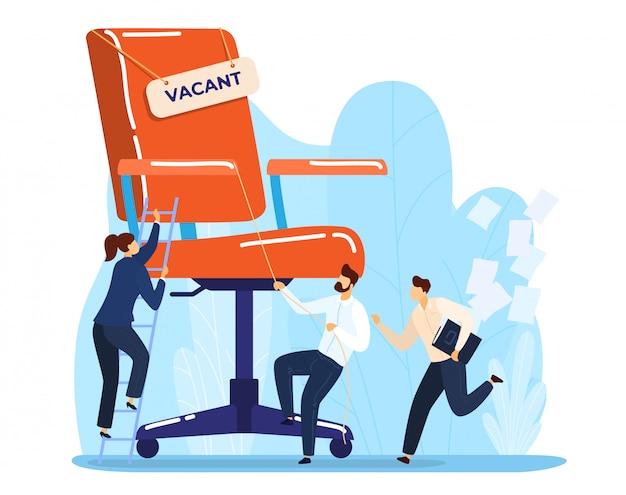 Il reclutamento di intervista di lavoro assume la ricerca di lavoro della gente. concetto di fine carriera, licenziare il dirigente dei dipendenti.