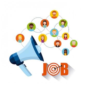Icone piane di opportunità di lavoro