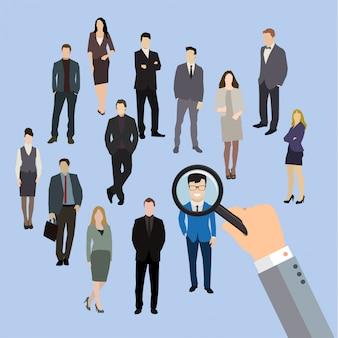 Illustrazione di reclutamento di lavoro