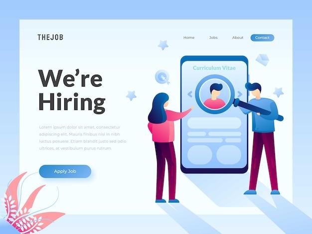 Ricerca di lavoro web template