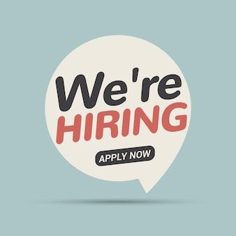 Posto vacante, stiamo assumendo ora. il team delle risorse umane recluta il concetto di dipendente. offerta di intervista di lavoro vacante di carriera