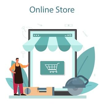 Piattaforma o servizio online di falegname o falegname