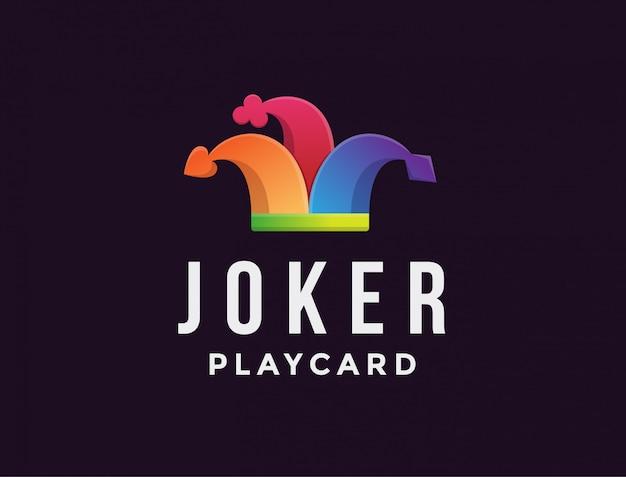 Modello di logo cappello jolly jester