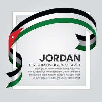 Bandiera del nastro della giordania, illustrazione vettoriale su sfondo bianco