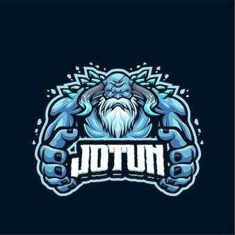 Modello di logo della mascotte di jotunheim
