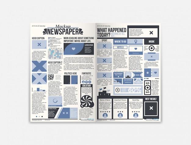 Modello di giornale di giornale con notizie fresche