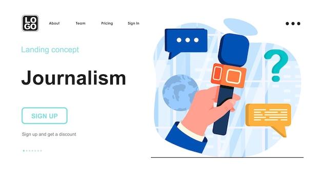 Modello di pagina di destinazione del giornalismo