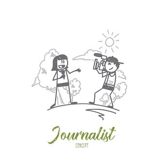 Illustrazione del concetto di giornalista