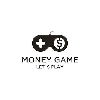 Gioco di denaro con joystick online ispirazione creativa per il design del logo