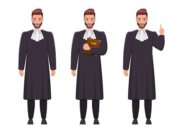 Giudice uomo design illustrazione isolato su bianco backgroundã¢