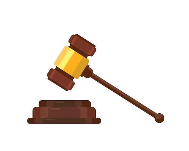 Giudice wood hammer illustrazione vettoriale giudizio all'asta