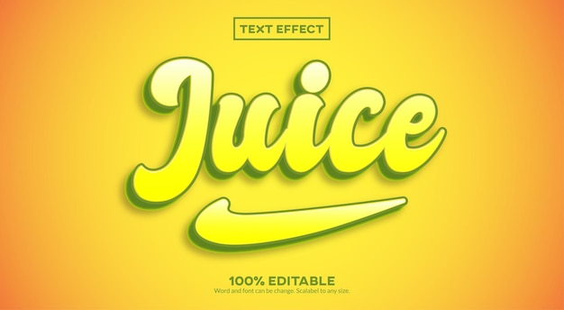 Effetto di testo 3d juice
