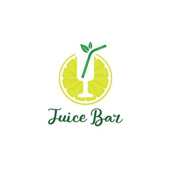 Logo del bar dei succhi per il ristorante