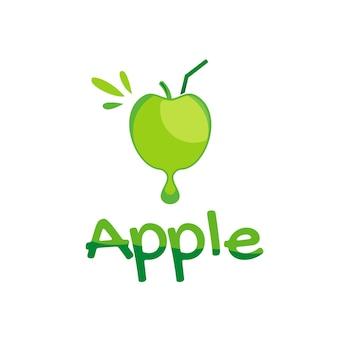 Logo di succo con simbolo di mela