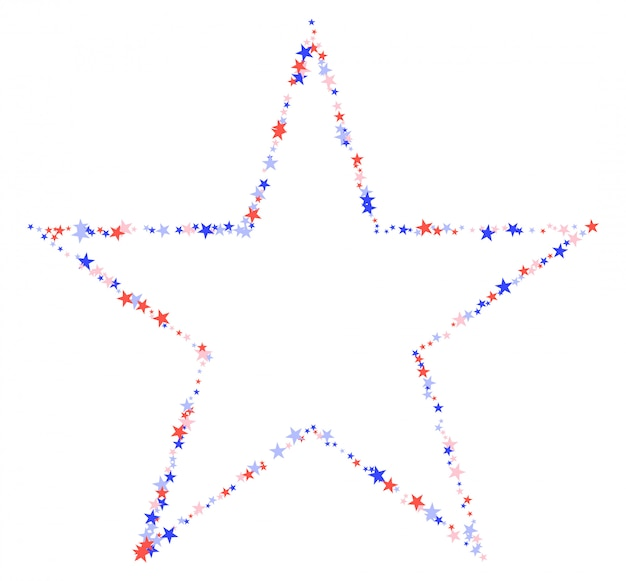 4 luglio modello fatto di stelle