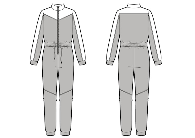 Illustrazione di vettore di moda tuta. abbigliamento sportivo