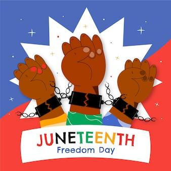 Juneteenth celebrazione illustrazione