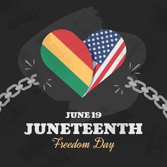 Juneteenth freedom day illustrazione