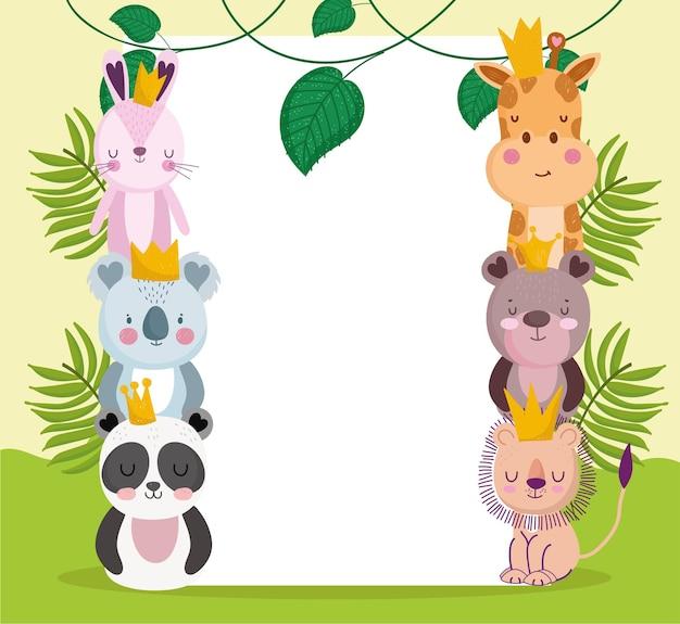 Cartone animato animali della giungla