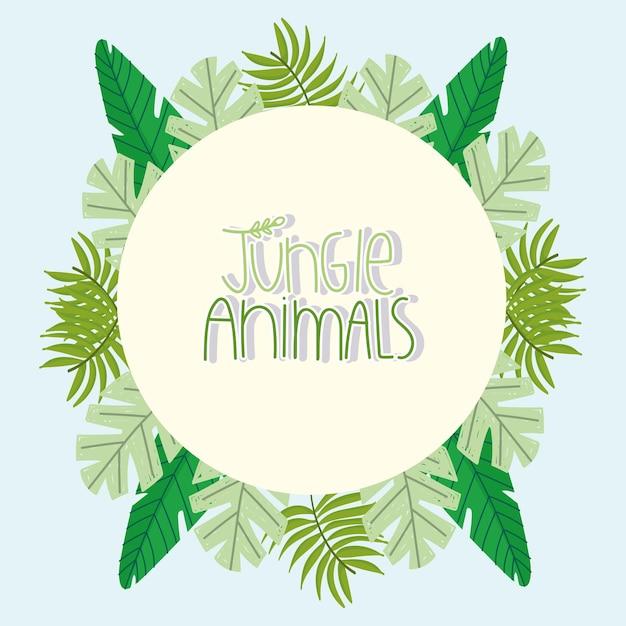Etichetta animali della giungla